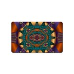 Psychodelic Purple and Gold Fractal Magnet (Name Card)