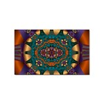 Psychodelic Purple and Gold Fractal Sticker Rectangular (100 pack)