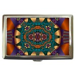 Psychodelic Purple and Gold Fractal Cigarette Money Case