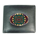 Psychodelic Purple and Gold Fractal Wallet