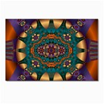 Psychodelic Purple and Gold Fractal Postcard 4 x 6  (Pkg of 10)