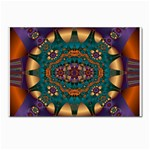 Psychodelic Purple and Gold Fractal Postcard 5  x 7