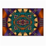 Psychodelic Purple and Gold Fractal Postcards 5  x 7  (Pkg of 10)