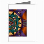 Psychodelic Purple and Gold Fractal Greeting Card