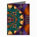 Psychodelic Purple and Gold Fractal Greeting Cards (Pkg of 8)