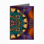 Psychodelic Purple and Gold Fractal Mini Greeting Cards (Pkg of 8)