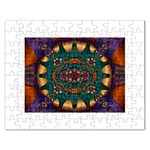 Psychodelic Purple and Gold Fractal Jigsaw Puzzle (Rectangular)