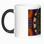Psychodelic Purple and Gold Fractal Morph Mug