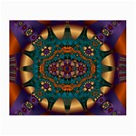 Psychodelic Purple and Gold Fractal Glasses Cloth