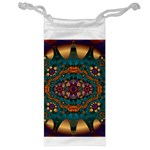 Psychodelic Purple and Gold Fractal Jewelry Bag