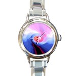 Hurricane on the Road Fractal Fantasy Round Italian Charm Watch