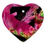 Elegant Writer Heart Ornament