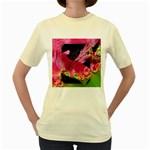 Elegant Writer Women s T-shirt (Yellow)