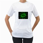 Neon Green and Black Goth Fractal Women s T-Shirt