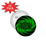 Neon Green and Black Goth Fractal 1.75  Button (10 pack)