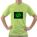 Neon Green and Black Goth Fractal Green T-Shirt