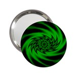 Neon Green and Black Goth Fractal 2.25  Handbag Mirror
