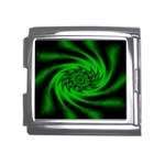 Neon Green and Black Goth Fractal Mega Link Italian Charm (18mm)