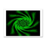 Neon Green and Black Goth Fractal Sticker (A4)