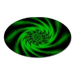 Neon Green and Black Goth Fractal Magnet (Oval)