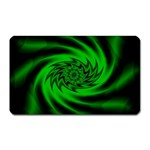 Neon Green and Black Goth Fractal Magnet (Rectangular)