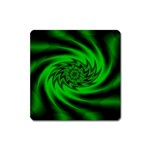 Neon Green and Black Goth Fractal Magnet (Square)