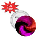 Rose and Black Explosion Fractal 1.75  Button (100 pack)