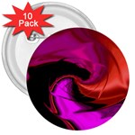 Rose and Black Explosion Fractal 3  Button (10 pack)