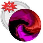 Rose and Black Explosion Fractal 3  Button (100 pack)