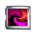 Rose and Black Explosion Fractal Mega Link Italian Charm (18mm)