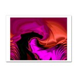 Rose and Black Explosion Fractal Sticker (A4)