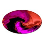 Rose and Black Explosion Fractal Magnet (Oval)