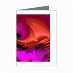 Rose and Black Explosion Fractal Mini Greeting Card