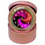 Rose and Black Explosion Fractal Jewelry Case Clock