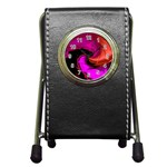 Rose and Black Explosion Fractal Pen Holder Desk Clock