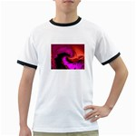 Rose and Black Explosion Fractal Ringer T