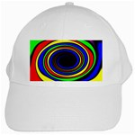 Primary Colors Bright Fractal White Cap