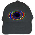 Primary Colors Bright Fractal Black Cap