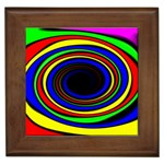 Primary Colors Bright Fractal Framed Tile