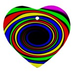 Primary Colors Bright Fractal Ornament (Heart)