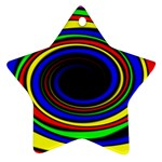 Primary Colors Bright Fractal Ornament (Star)