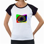 Primary Colors Bright Fractal Women s Cap Sleeve T