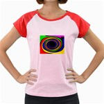 Primary Colors Bright Fractal Women s Cap Sleeve T-Shirt