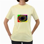 Primary Colors Bright Fractal Women s Yellow T-Shirt