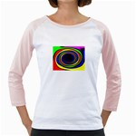 Primary Colors Bright Fractal Girly Raglan