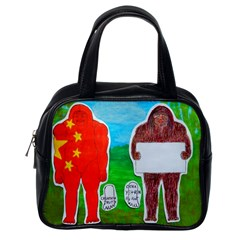 2 Yeh Ren,text & Flag In Forest  Classic Handbag (one Side) by creationtruth
