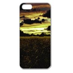 Dark Meadow Landscape  Apple Seamless Iphone 5 Case (clear)
