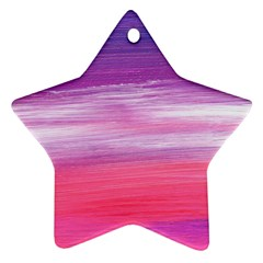 Abstract In Pink & Purple Star Ornament by StuffOrSomething
