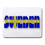 Flag Spells Sweden Small Mouse Pad (Rectangle)