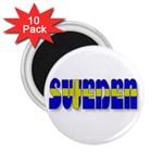 Flag Spells Sweden 2.25  Button Magnet (10 pack)